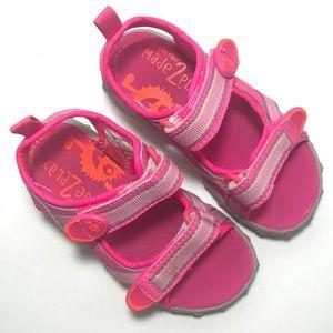 Stride Rite M2P Little Girls 9 Pink Sport Sandals